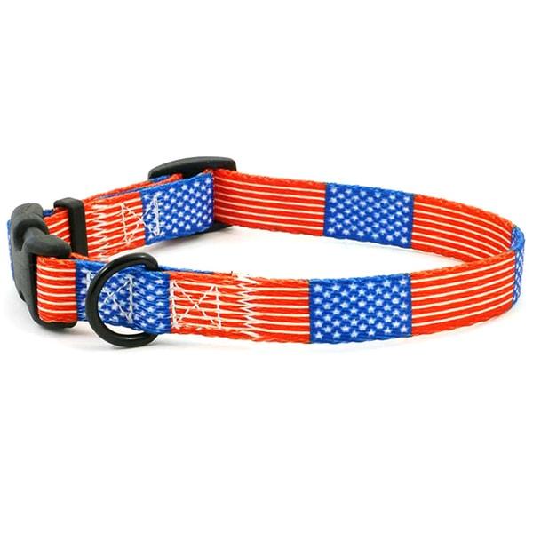 USA Flag Dog Collar