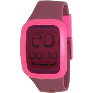 Swatch Men's Pink Digital Swiss Quartz Watch