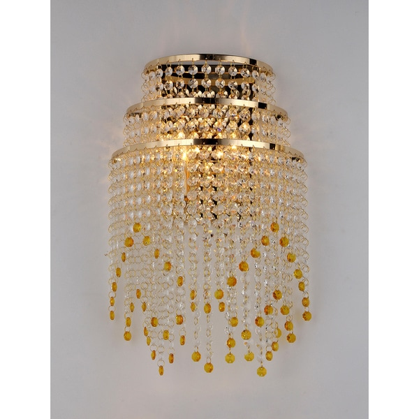 Golden Heap Crystal Wall Lamp