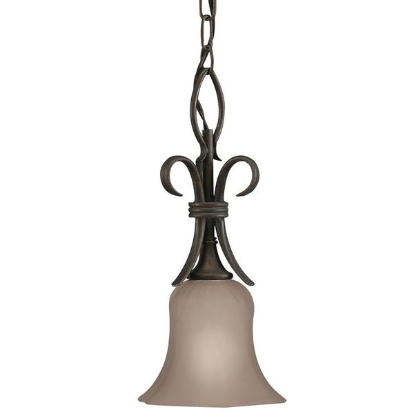 Transitional 1-light Legacy Bronze Mini Pendant
