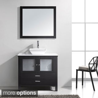 Virtu Brentford 36-inch Espresso Single Sink Bathroom Vanity Set