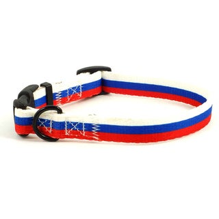 Russian Flag Dog Collar