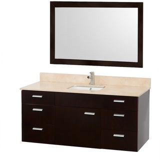 Encore Single-sink Espresso 52-inch Vanity and Mirror Set