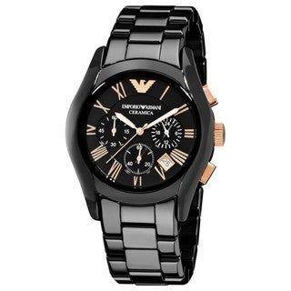 Armani Men's Black Ceramic Chronograph Watch