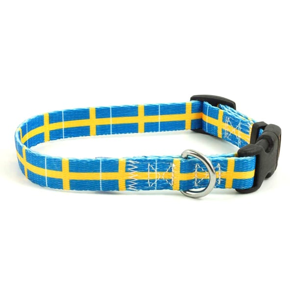Swedish Flag Dog Collar