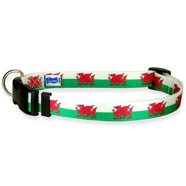 Welsh Flag Dog Collar