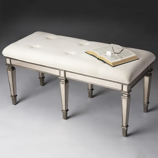 Ivory Mirror Bench