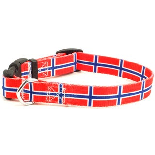 Norwegian Flag Dog Collar