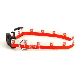 Polish Flag Dog Collar