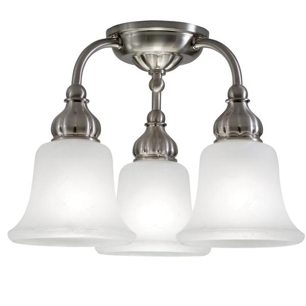 Nuvo 'Patton' 3-light Brushed Nickel Semi-flush Fixture