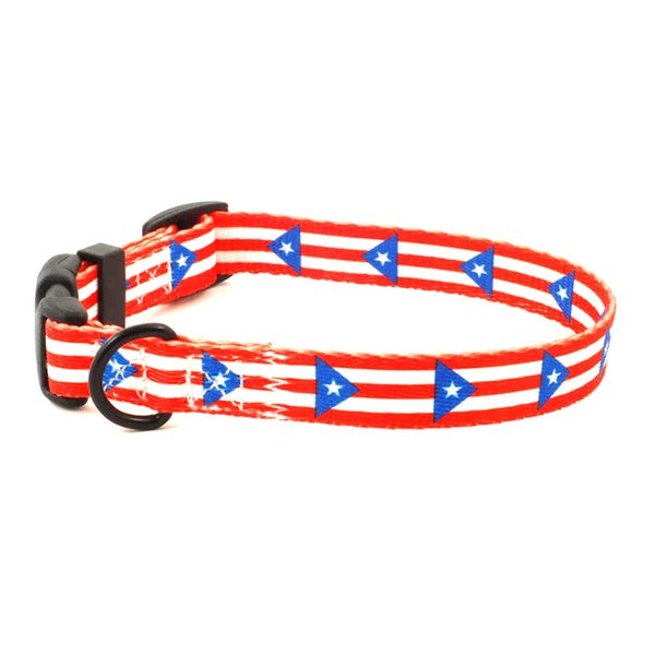 Puerto Rican Flag Dog Collar