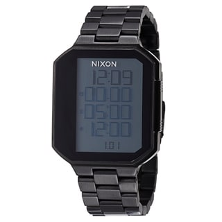 Nixon Men's 'The Synapse' Stainless Steel Gunmetal Plated Digital Alarm Watch
