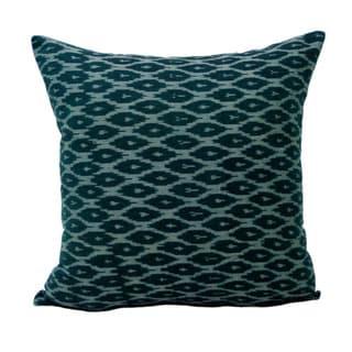 Hand-woven Ikat Fabric Decorative Pillow (India)