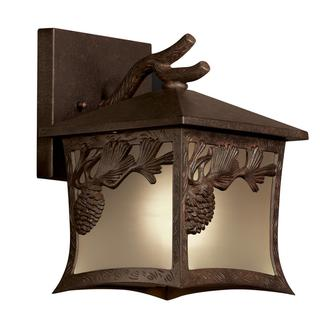 Pinecone 1-light Outdoor Bronze Wall