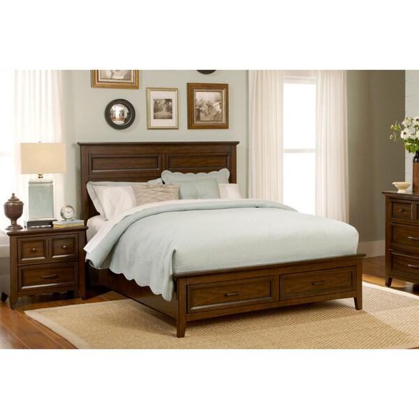 Liberty Laurel Creek Queen Storage Footboard Bed & Nightstand