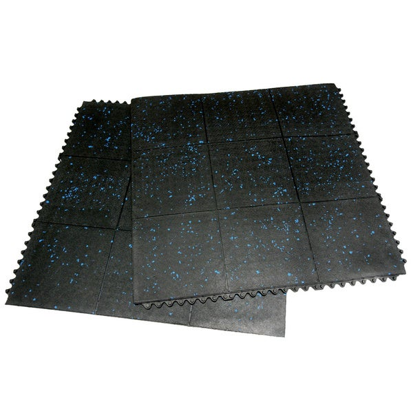Rubber-Cal Revolution Gym Tiles Interlocking Floor Tiles 2 Pack