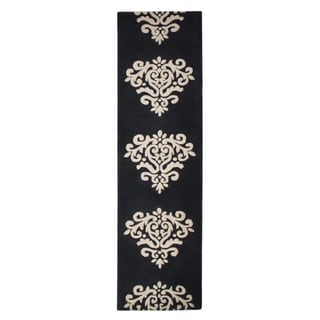 Jovi Home Sublime Hand tufted Rug 2 X 8 Foot, Black/Off White....