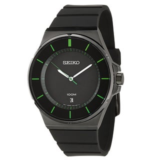 Seiko Men's 'Sport' Stainless Steel Black Ion Plated Quartz Watch