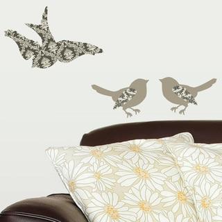 "DCWV Wall Art "" WALL ART DAMASK BIRDS """