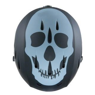 Lucky Bums Snow Sports Helmet, Black Skull