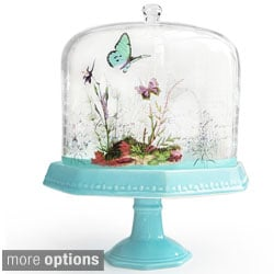 Notions Decorative Pedestal Plate with Dome Lid