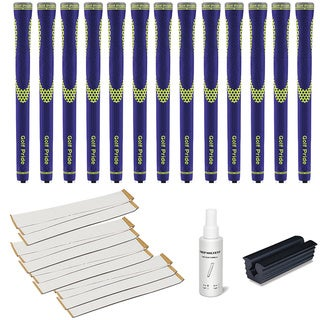 Golf Pride Niion Blue/Yellow - 13pc Grip Kit (with tape, solvent, vise clamp)