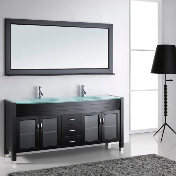 virtu usa ava 72 inch double sink bathroom vanity set 15567599