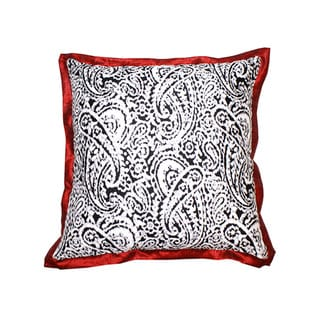 Lady Paisley Red Decorative Pillow (India)