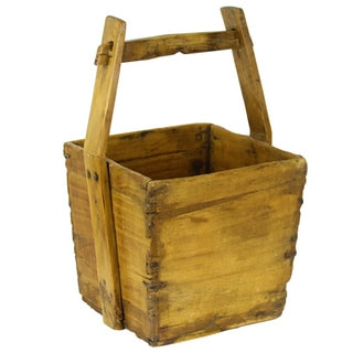 Classic Wooden Water Bucket