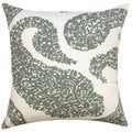 Gray Overscale Paisley Throw Pillow (India)