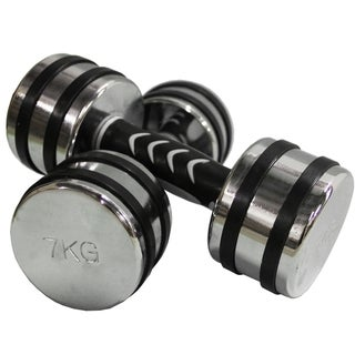 30.8-pound Chrome Dumbbell Set