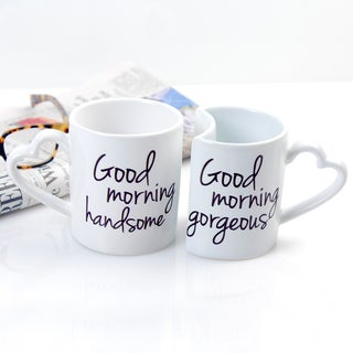 Good Morning 10 oz. Coffee Mugs (Set of 2)