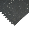 Rubber-Cal Revolution Gym Flooring Tiles 5/8 x 36 x 36-inch Interlocking Tiles Black/White Specks 2 Pack,