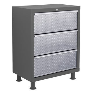 NewAge Products Bold Diamond Plate 3-Drawer Tool Cabinet