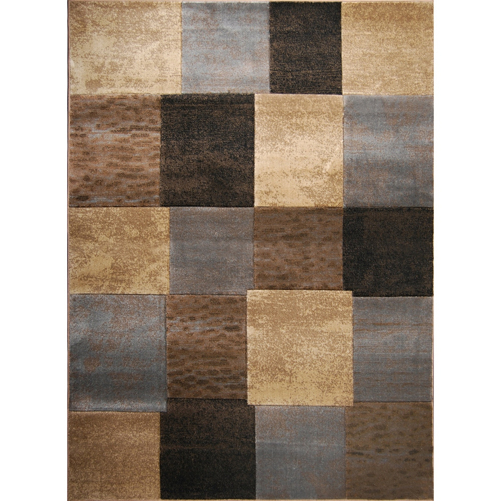 Hand-carved Modern Element Brown/ Grey Rug (7'8 x 10'2) at Sears.com