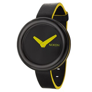 Nixon Women's 'The Pirouette' Black/ yellow Watch