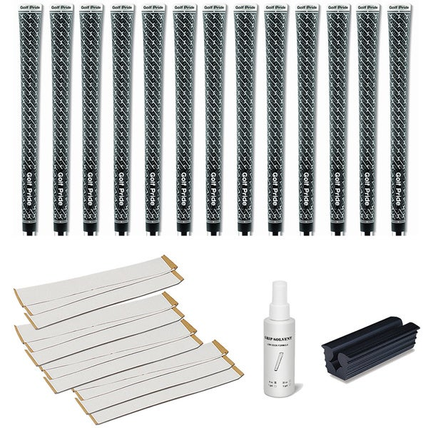 Golf Pride Z-Grip Cord - 13pc Grip Kit (with tape, solvent, vise clamp)