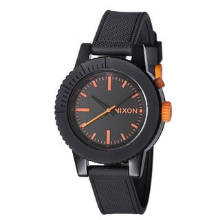 Nixon Women's 'The Gogo' Black Polycarbonate Night Light Watch