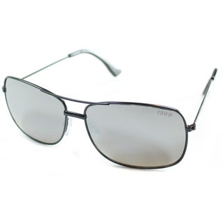 Izod Unisex IZ 352 10 Black Metal Aviator Sunglasses