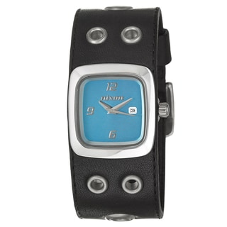 Nixon Women's 'The Mini GTO' Black Leather Quartz Watch