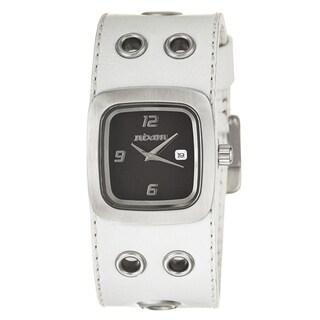 Nixon Women's 'The Mini GTO' Leather Cuff Watch