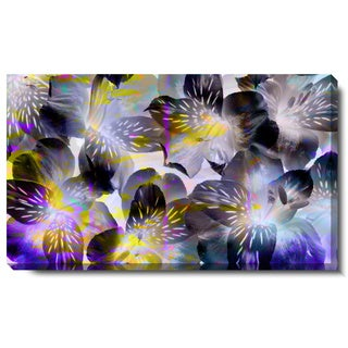 Studio Works Modern 'Black Tiger Flowers' Gallery Wrapped Canvas