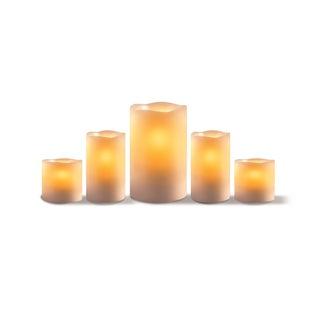 Sarah Peyton 5-piece Flameless Candle Set with Timer