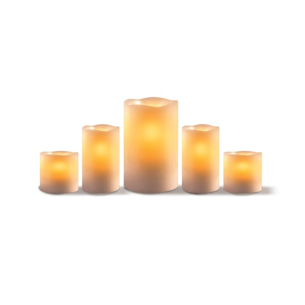 Sarah Peyton 5-piece Flameless Candle Set with Timer