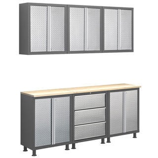 NewAge Products Bold Diamond Plate Series 7-Piece Cabinet Set