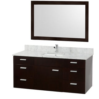 Encore Single Espresso 52-inch Vanity/ Mirror