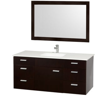 Encore Single Espresso 52-inch Vanity with Mirror