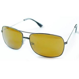 Izod Unisex IZ 352 31 Gunmetal Aviator Sunglasses