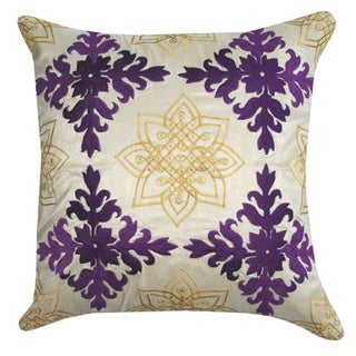Medallion Embroidered Decorative Pillow (India)