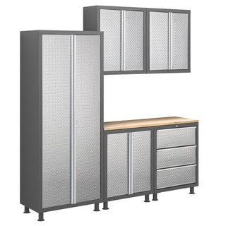 NewAge Products Bold Diamond Plate Series 6-piece Cabinet Set
